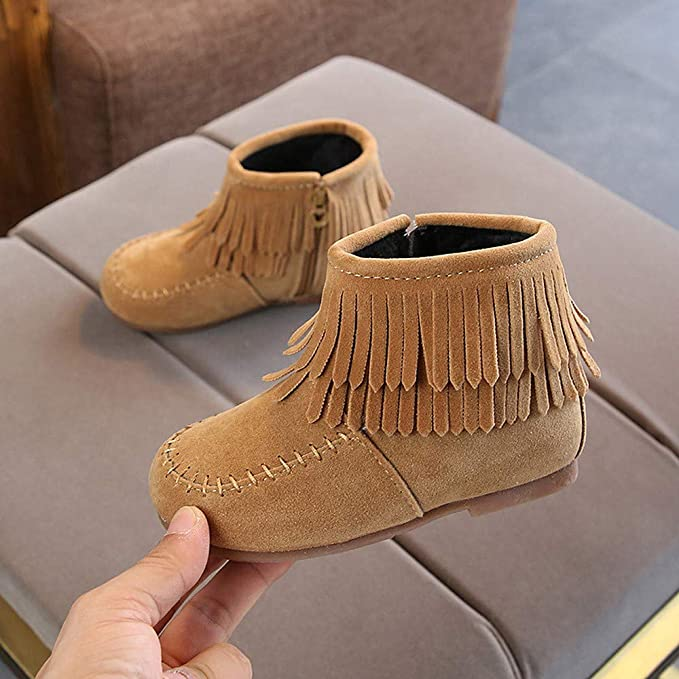 Amazon.com: Little Kids Winter Boots,Jchen(TM) Kids Baby Infant Boys Girls Child Suede Leather Winter Fringe Tassel Boots Snow Boots Shoes for 1-6 Y: Garden ...