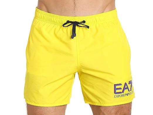 c0380e76d2 Image Unavailable. Image not available for. Color: Emporio Armani Sea World  Swim Shorts Vibrant Yellow