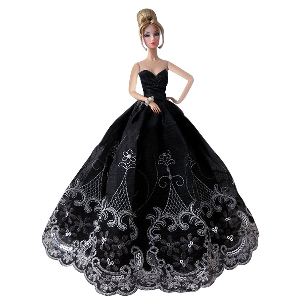 1 PCS High quality Fashion Wedding Party Gown Bling Dresses & Clothes for Barbie Doll CreaTion