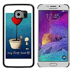 Exotic-Star ( Love My First Love ) Fundas Cover Cubre Hard Case Cover para Samsung Galaxy S6 EDGE / SM-G925 / SM-G925A / SM-G925T / SM-G925F / SM-G925I