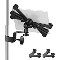 Neewer 7-14 inches Adjustable Tablet Holder Mount with 360 Degree Swivel Clamp for Connecting with Microphone Stand…