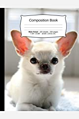 """Dog Composition Notebook, Wide Ruled: Composition Notebook, Lined Student Writing Journal, Exercise Book, 200 pages, 7.44"""" x 9.69"""" (Dog Series) Paperback"""