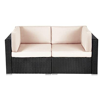 Amazon.com : U-MAX New Patio Loveseat, 2 Piece Outdoor ...
