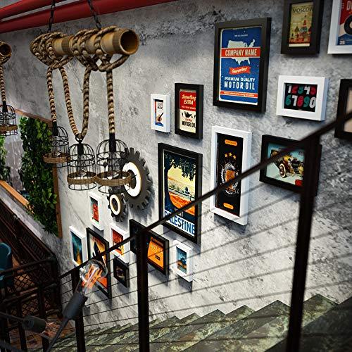 Cox Marco de Fotos para Bares, Tiendas de Ropa, Paredes Vintage, Decoraciones, Collages de Marcos de Fotos, Escaleras...