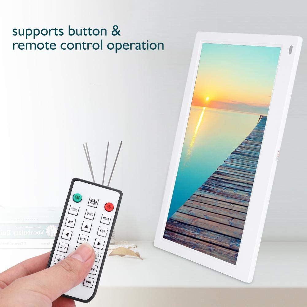 12.5 Screen HDMI IPS Multi-Function Electric 1080P Remote Control Gift for Children Friends Black-US Plug Boquite Digital Photo Frame