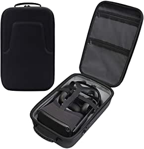 DEWVIE Hard Travel Case for Oculus Quest VR Gaming Headset and Controllers Accessories Waterproof Shockproof Carring case
