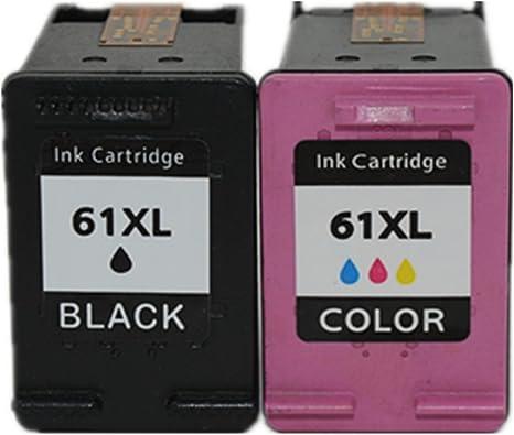 Cartucho de tinta para HP 61 X L 61 ch563 W ch564 W BK y Tri-color ...
