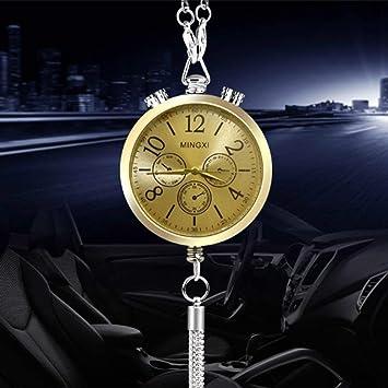 Amazon.es: Funnyrunstore Reloj de diseño Perfume de coche Interior del coche Espejo colgante Humidificador de aire del coche Aromaterapia Humidificador de ...
