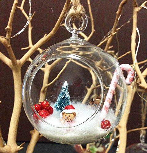 "WGVI 6 Pcs Mini 3/"" Hanging Ornament Tea Light Holder//Terrarium by HCH0103/_6FBA"