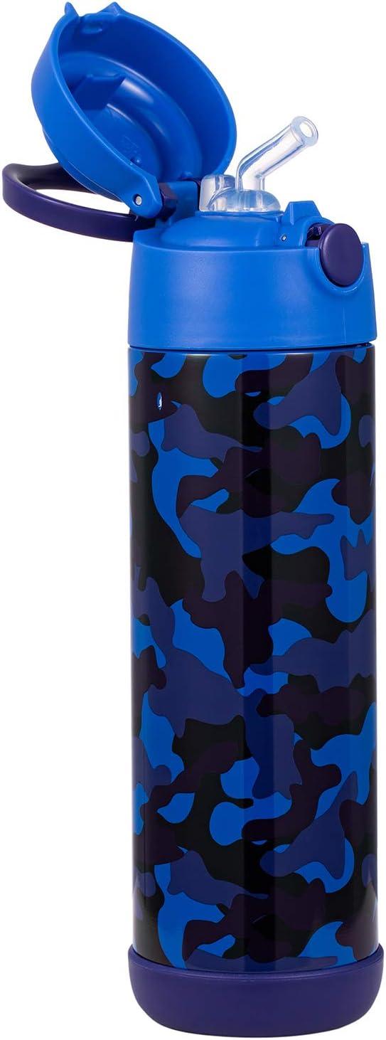 Snug Frascos t/érmicos Botella de Agua aislada al vac/ío con Pajita para ni/ños