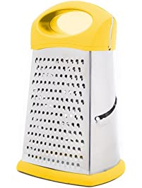 Merveilleux HiramWare Box Grater, 4 Sided 9 Inch Stainless Steel Cheese And Vegetable  Slicer