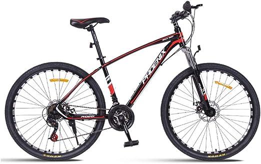 26 Pulgadas 24 Velocidades Ciclismo, Bicicleta MontañA, Bicicleta Suspension Delantera De Doble Disco De Freno, Ciclismo De MontañA Marco De Acero De Alto Carbono, Hard Tail Bicicleta,Black Red: Amazon.es: Hogar