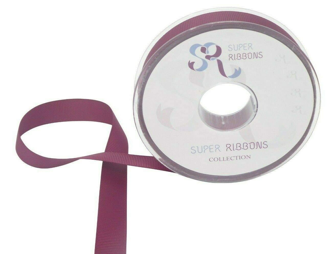 10 mm SR SUPER RIBBONS/®TM 15 mm 3 mm x 50 m 6 mm 3 mm nastro grosgrain di qualit/à 25 mm e 40 mm Hot Pink 20//50 metri su bobine di plastica dura