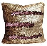 Mermaid Sequin Reversible Pillow (Pink/Gold)