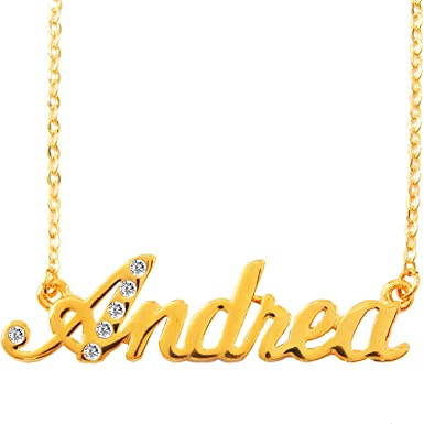 Nombre Collar Andrea Bañados En Oro 18 K Clothing