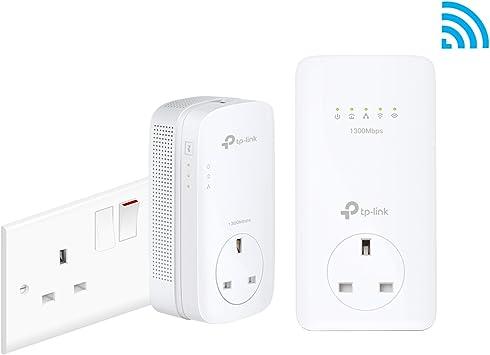TP-Link TL-WPA8630P KIT AV1200 Gigabit Passthrough Powerline ac Wi-Fi Kit Renewed