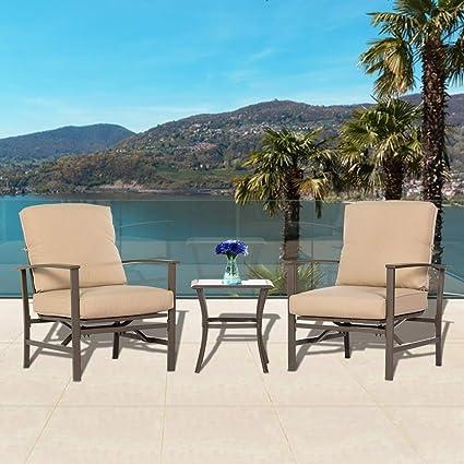 Amazon.com: BonusAll - Juego de sillas de patio y café, 3 ...