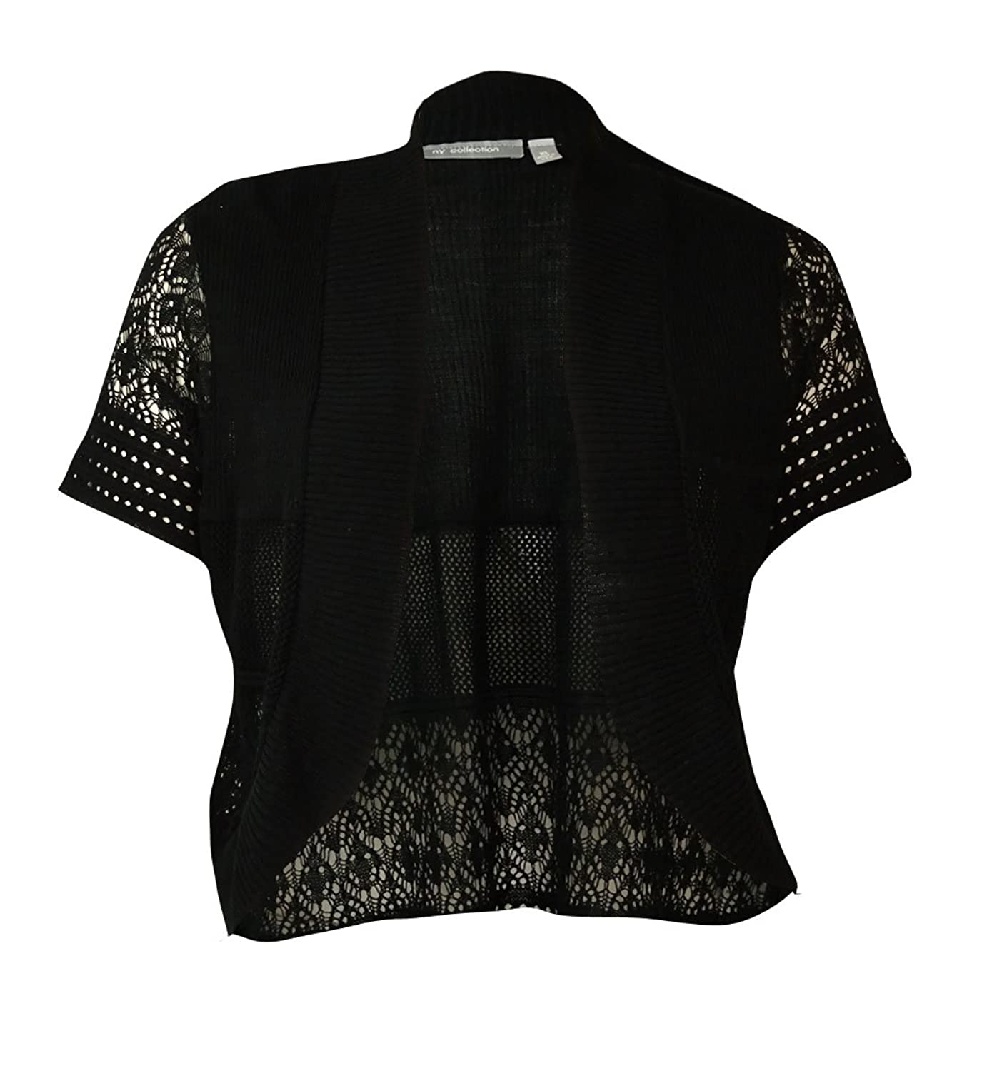 NY Collection Women's Mixed Stitch Cardigan