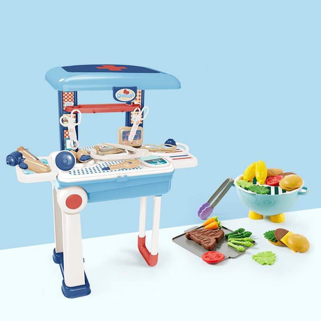 LLRDIAN Die Küche der Kinder spielt das Kombinationsgemüse-Jungen- und Mädchenbaby, das Reissimulations-Küchensatz kocht (Farbe   C1) A2
