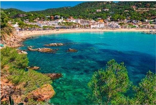 ZZXSY Puzzle 1000 Piezas Educa Paisaje del Mar Llafranc Cerca De ...