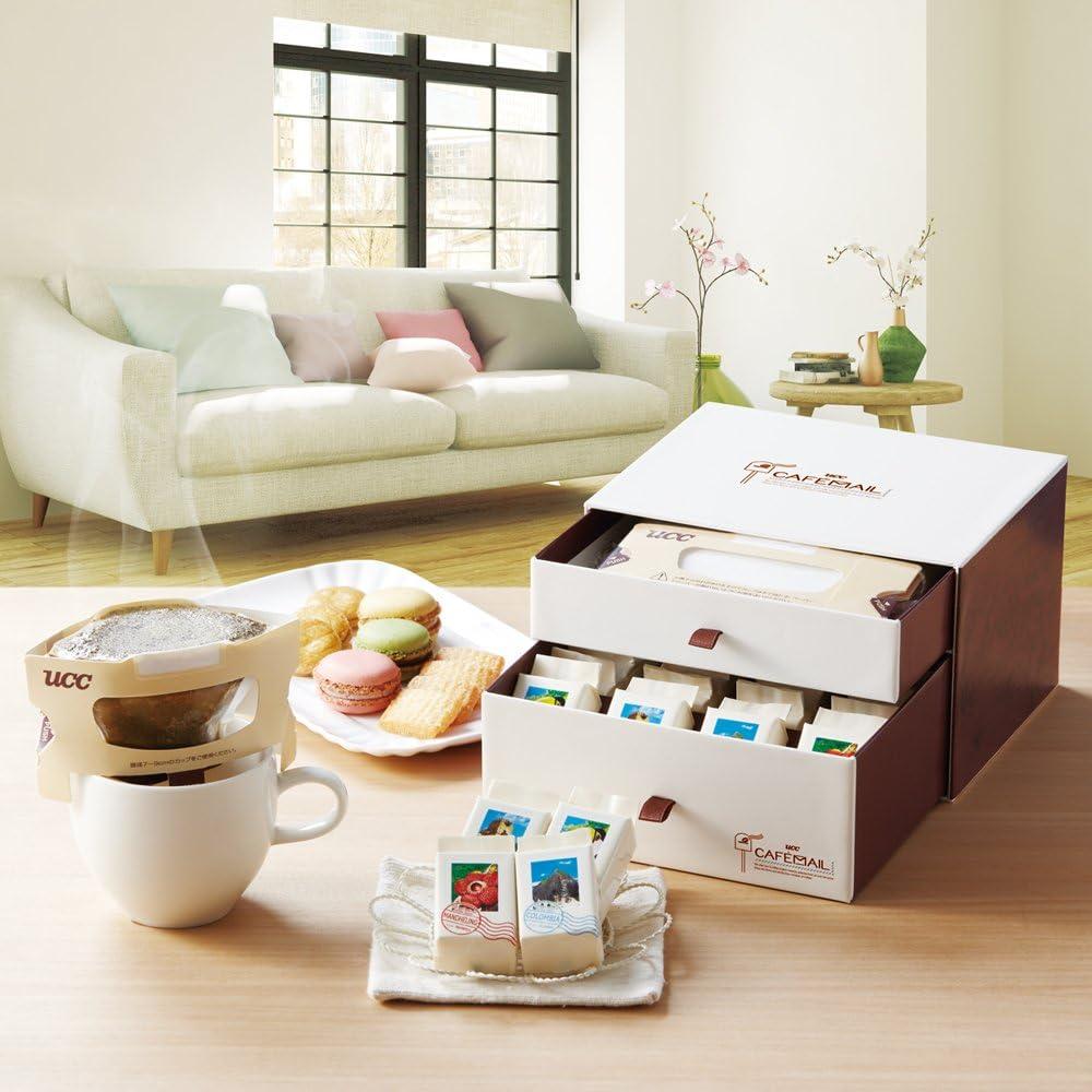 UCC コーヒー ギフト カフェメール ドリップコーヒー (エチオピアモカ マンデリン コロンビア サントス)×各5杯分 200g