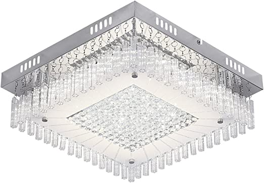 Chandeliers Ceiling Lights with LED Bulbs Modern Square Light Pendant Fitting for Living room Bedroom Dining Room Hallway 1440lm 4000K