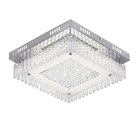 Auffel LED Ceiling Light, Raindrop Dimmable Square Flush Mount ...
