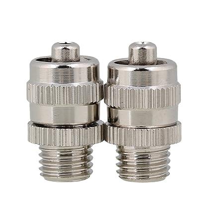BQLZR plata Industrial dispensador de M8 accesorios pegamento dispensador de metal aguja adaptador de tornillo para