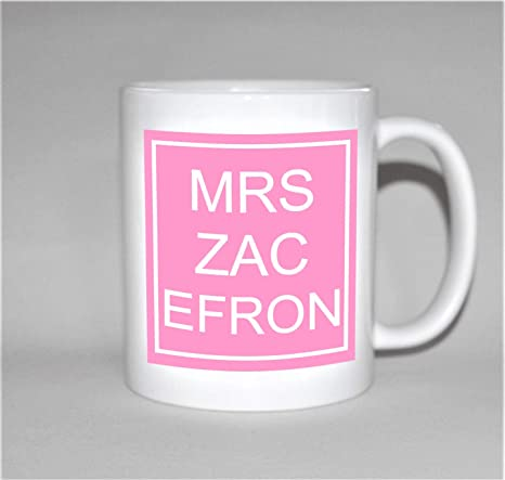Amazon.com: MRS ZAC EFRON taza regalo para su taza regalo de ...