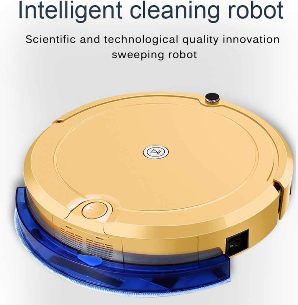 Aspirateur Robot, Capteur Anti-Collision, Balayeuse Robotique Automatique Intelligente 3 En 1 Avec Vadrouille À Forte Aspiration Aspirateur Robot, Rose Golden