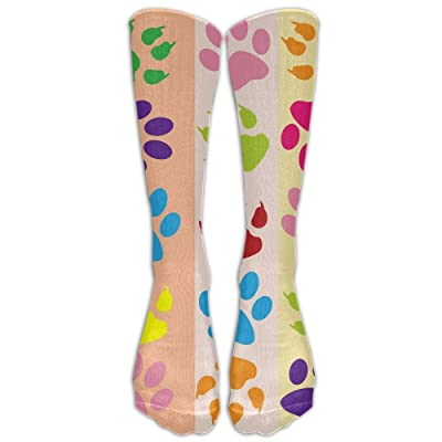 High Boots Crew Colorful Dog Footprint Compression Socks Comfortable Long Dress For Men Women