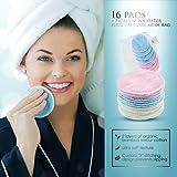 16 PACK Reusable Makeup Remover Bamboo Cotton