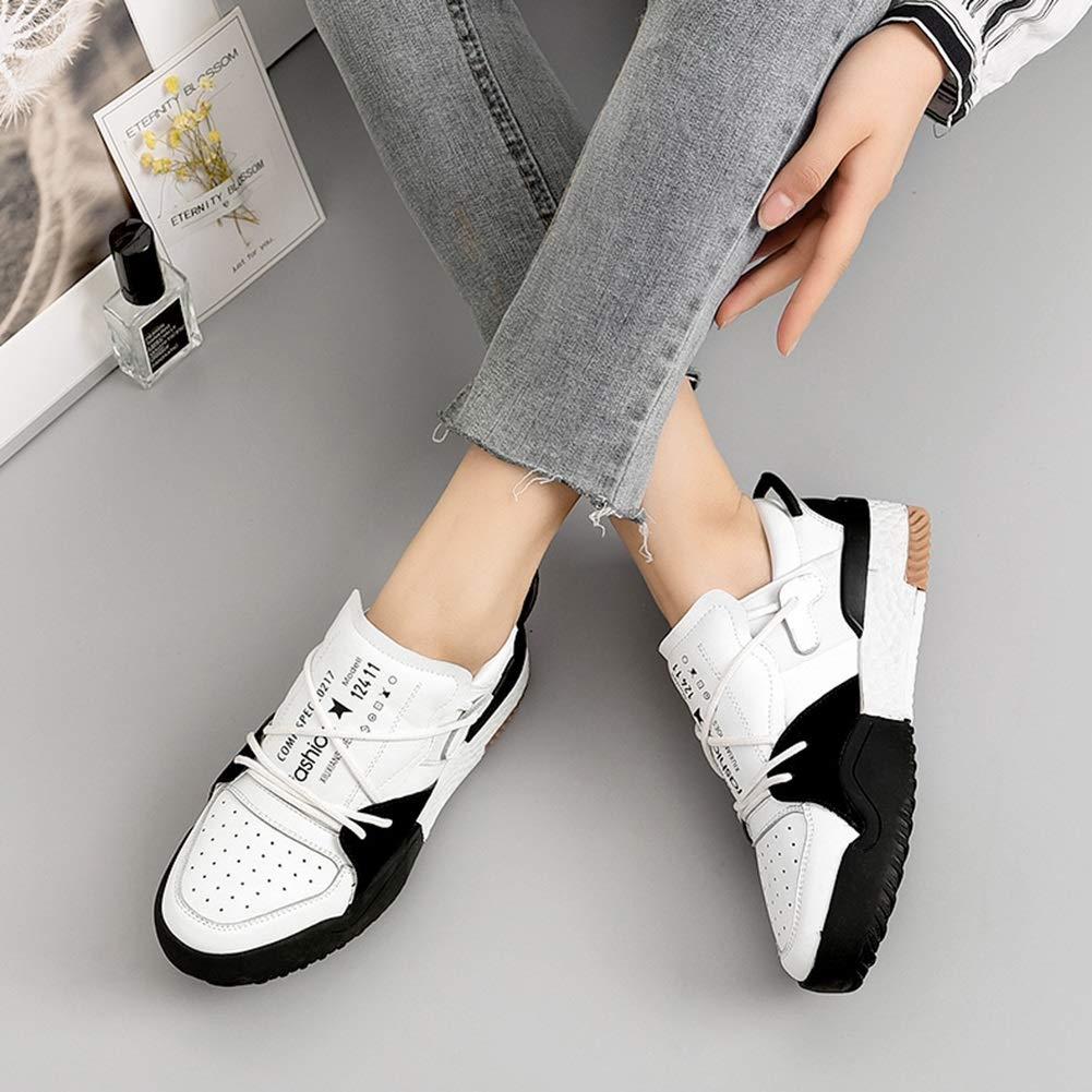 Damenschuhe HWF Running Turnschuhe Low Top Lace Up Fashion Wanderschuhe Wanderschuhe Wanderschuhe Sport Freizeit (Farbe   Weiß schwarz größe   36) 4a7cde