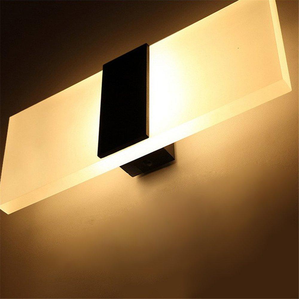 DengWu lampada da parete L'hotel LED rettangolare lampada al posto letto matrimoniale Nordic minimalista moderno parete corsia lampade, energia creativa (6  14cm)