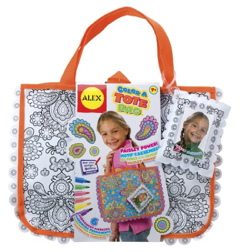 Coloring Tote Bag (ALEX Toys Craft Color A Tote Bag)