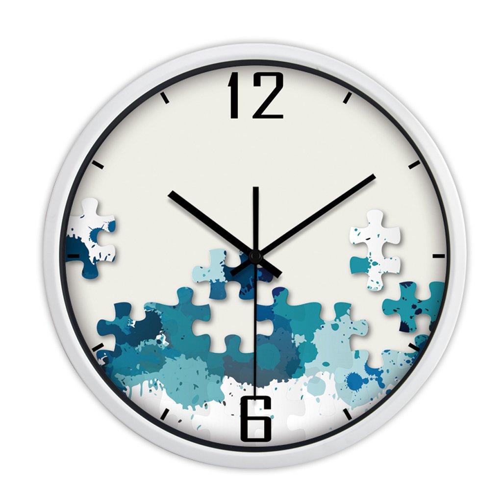 現代トレンドパーソナリティメタルウォールチャートリビングルームのベッドルームの装飾のアイデアシンプルな大きなミュートの壁時計 (色 : 白, サイズ さいず : 35 cm 35 cm) B07CYV853H 35 cm 35 cm|白 白 35 cm 35 cm