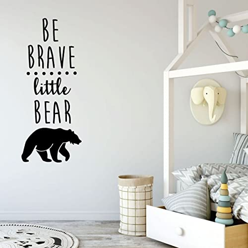 Amazon.com: Be Brave Little Bear Wall Decal Quote - Vinyl ...