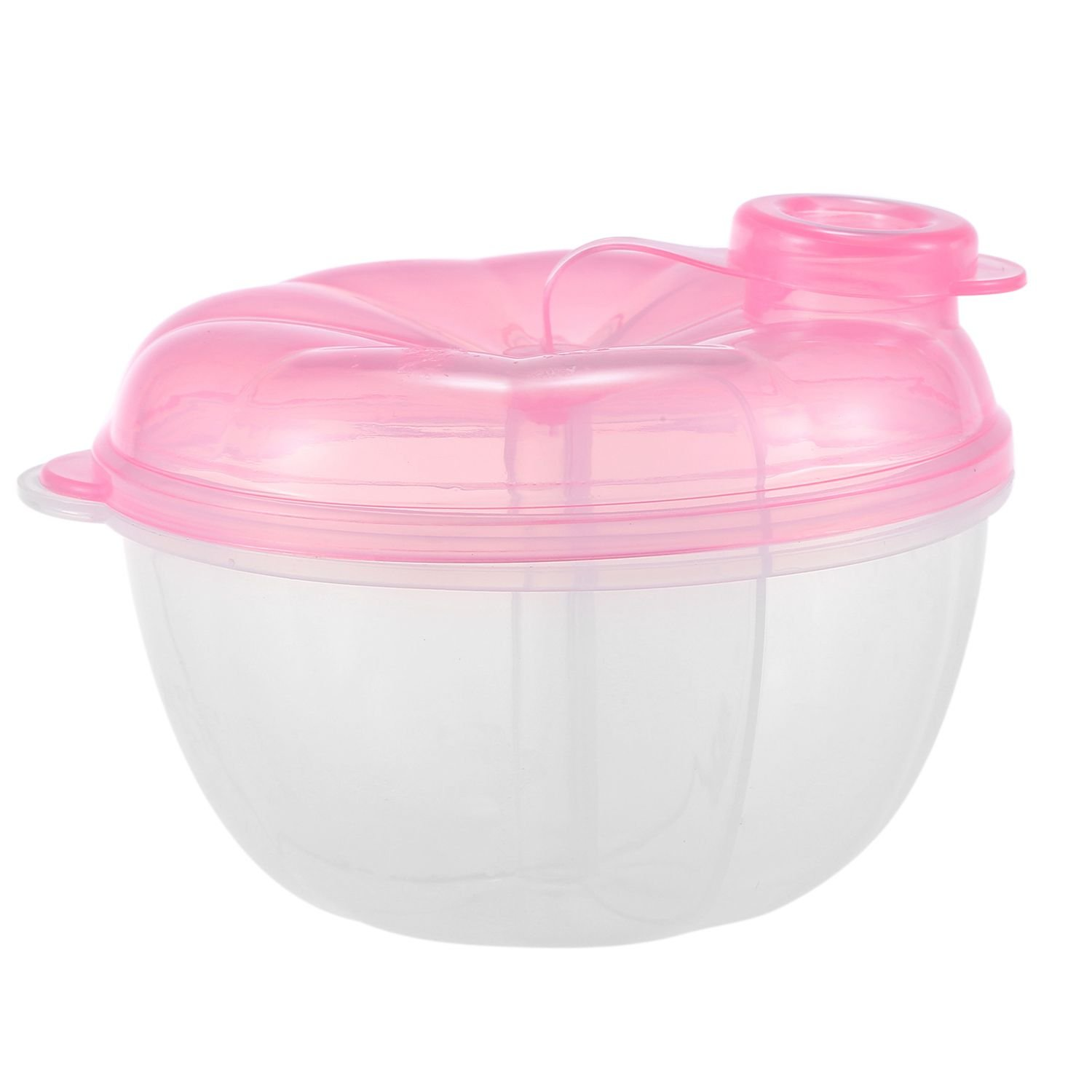 SODIAL Formula Dispenser, Non-Spill Baby Milk Powder Dispenser and Snack Cup, Baby Food Storage Container (Pink#1)