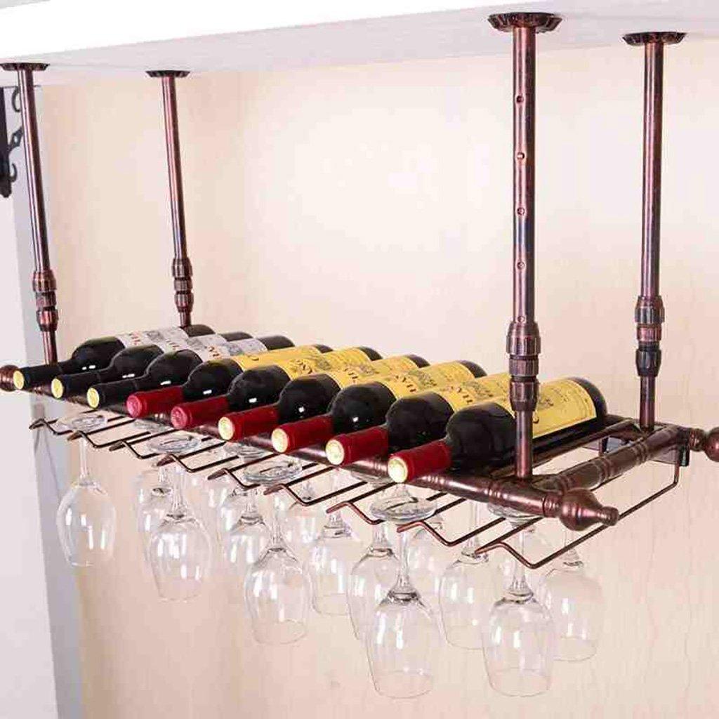 ワイングラスラック、サスペンションクリエイティブワインラック、アイアンレッドワイングラスフレーム、バー家庭用ワインカップホルダー B07GBM581D 120*30cm|ブロンズ ブロンズ 120*30cm