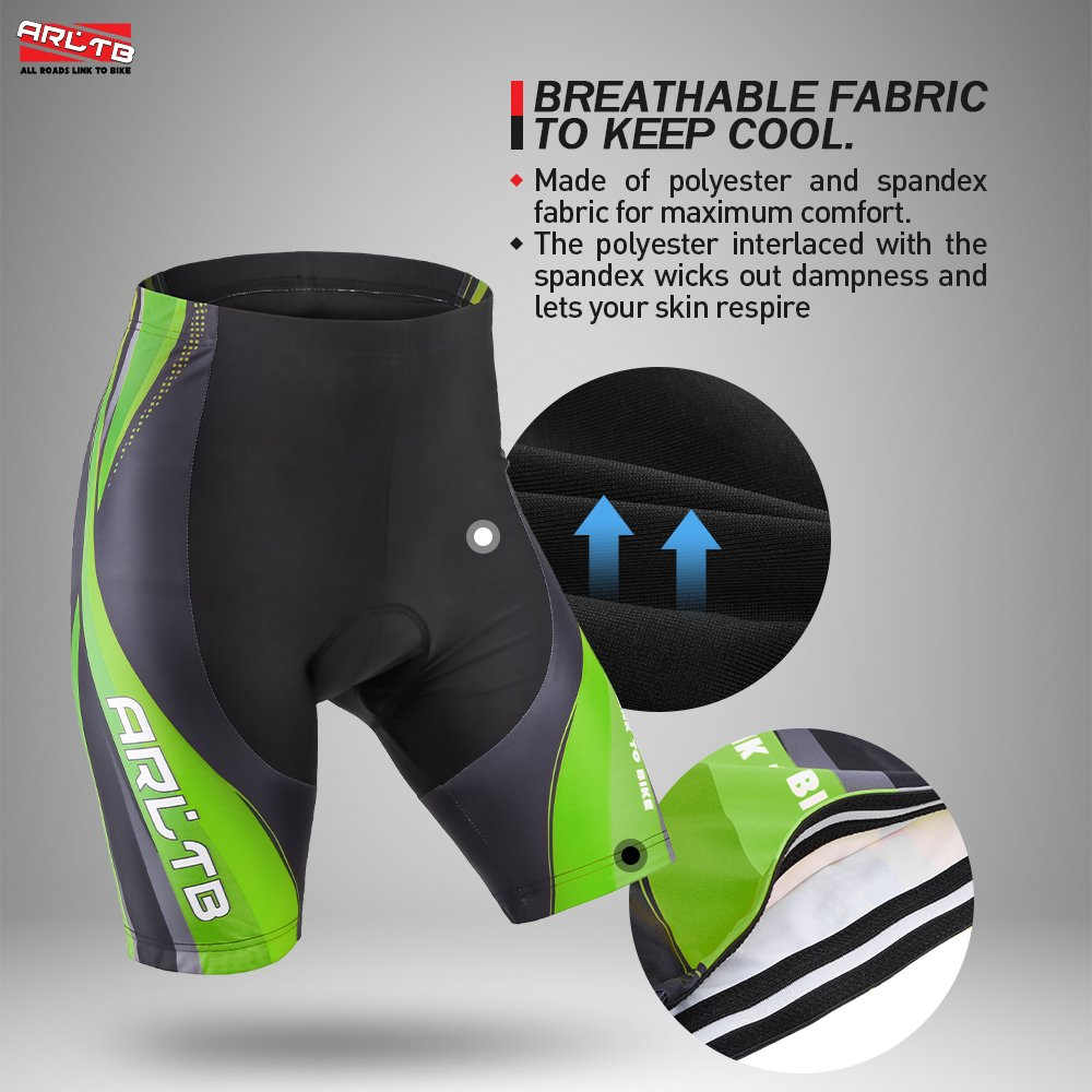 4 Colors and 6 Sizes Arltb Bike Shorts Men/'s Gel Padded Cycling Shorts Biking Bicycle Bike Pants Half Pants 3D Padding Breathable Bike Shorts for Cycling Breathable and Quick Dry