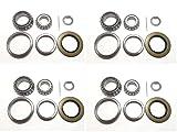(Set of 4) Trailer Hub Wheel Bearing Kit WPS