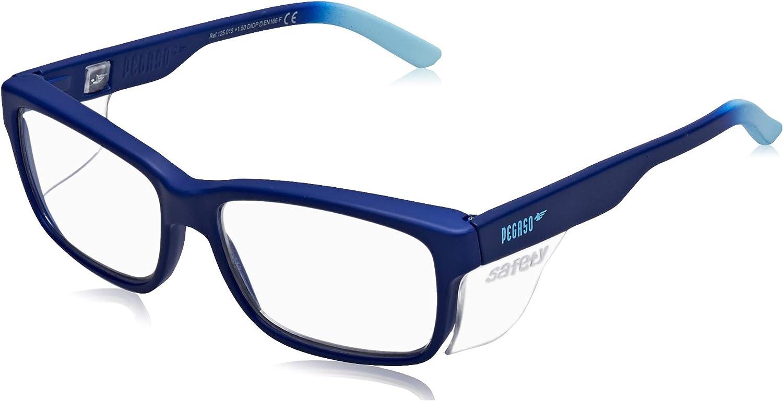 Pegaso 125.09.015 - Gafas contra impactó con lentes pre graduadas, Multicolor (Negro/Azul), +1.5, L