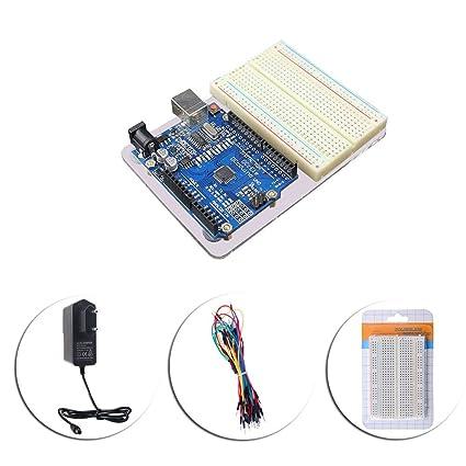 Starter Arduino UNO R3 kit de experimento, caja de placas y ...