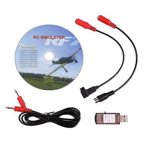 LITEBEE 22 in 1 RC Flight Simulator Adapter for G7 Phoenix 5 0 XTR VRC,  Flysky Frsky Remote Controller FPV Racing