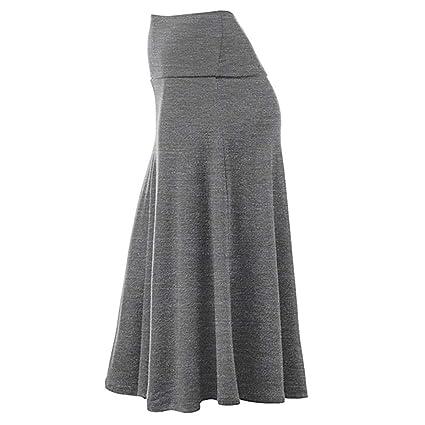 FELZ Falda de Mujer Falda Larga Mujer Falda de Talla Grande para ...