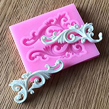 Molde de silicona con encaje en relieve, diseño de flor en relieve de estilo europeo, para tartas en relieve: Amazon.es: Hogar