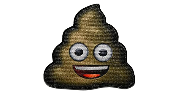 Iron on patches brown Sh*t turd pile of sh*t emoji 5,1x5,3cm Application