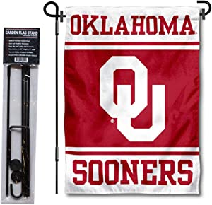 College Flags & Banners Co. Oklahoma Sooners Garden Flag and Flag Stand Pole Holder Set