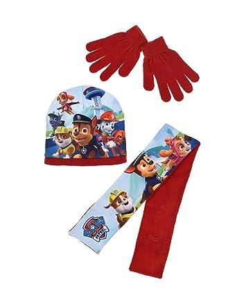 La Pat  Patrouille Echarpe, bonnet polaire et gants enfant Bleu et Rouge de  3 e213a261396