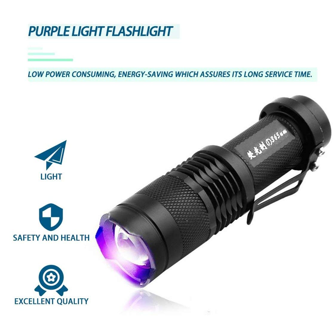 Dynamovolition UV Detector Ultra Violet LED Flashlight Backlight 395nm Inspection Lamp Torch for Dog Cat Urine Pet Stains Scorpions